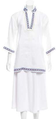Tory Burch Long Sleeve Linen Tunic