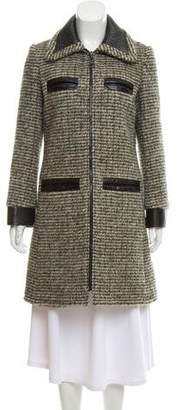 Louis Vuitton Leather-Trimmed Knee-Length Coat w/ Tags