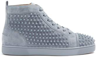 Christian Louboutin Louis spike-embellished suede high-top trainers