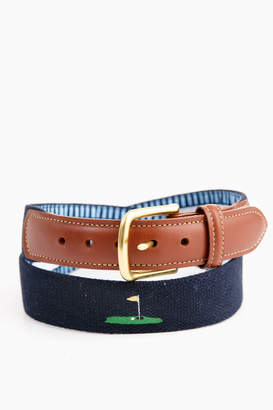 Leather Man LTD. Hole in One Embroidered Belt