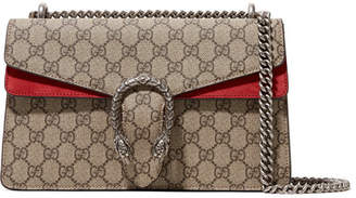 Gucci Dionysus Medium Coated-canvas And Suede Shoulder Bag - Red