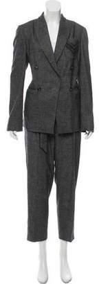 Brunello Cucinelli Tweed Wool Pantsuit