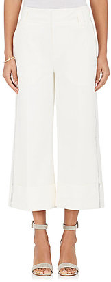 Derek Lam 10 Crosby Women's Stretch-Cotton Cuffed Wide-Leg Culottes $375 thestylecure.com