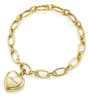 Mom heart locket and bracelet
