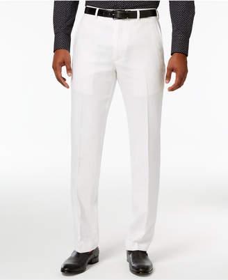 Sean John Men's Classic-Fit White Linen Dress Pants $120 thestylecure.com