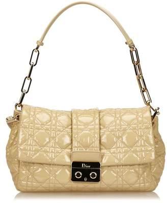 Christian Dior Vintage Leather Cannage Chain Shoulder Bag