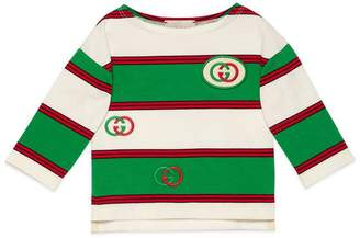 Gucci Baby embroidered striped T-shirt