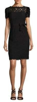 NUE by Shani Ruffled Eyelash-Lace Dress