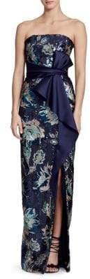 Marchesa Strapless Sequin Gown