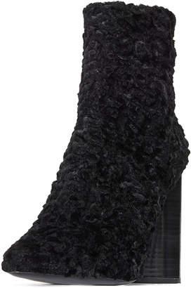 Mercedes Benz Castillo Edie Ruched Velvet Block-Heel Boots
