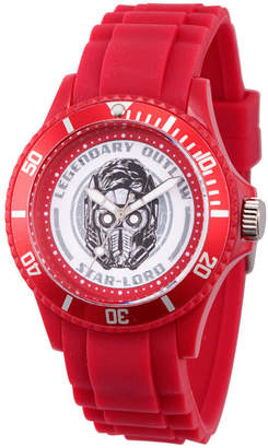 Marvel Guardian Of The Galaxy Mens Red Strap Watch-Wma000104