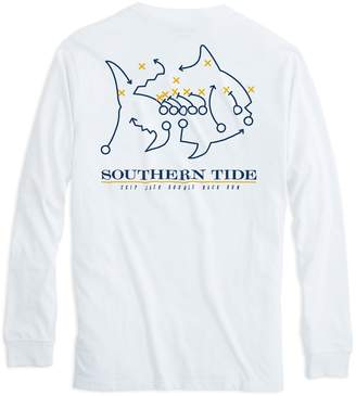 Southern Tide Skipjack Play Long Sleeve T-shirt - West Virginia University