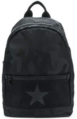 Hydrogen star trim logo strap backpack
