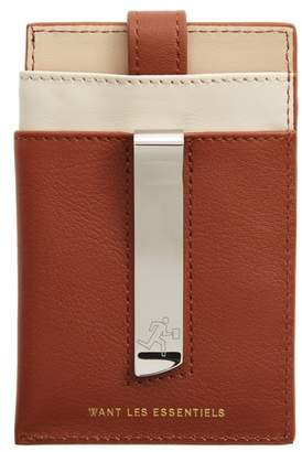 WANT Les Essentiels 'Kennedy' Leather Money Clip Card Case