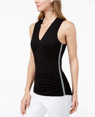 INC International Concepts I.n.c. Petite Varsity-Stripe Top, Created for Macy's