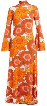 Dodo Bar Or Brigitte Floral Print Dress - Womens - Orange White