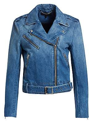 Rag & Bone Women's Abbey Denim Moto Jacket