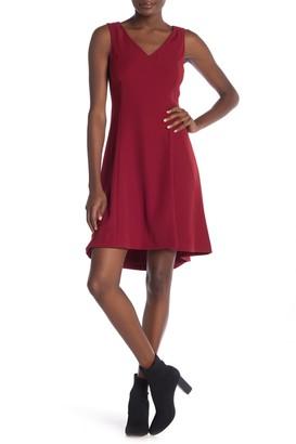 Theory Andrisa V-Neck Fit & Flare Dress