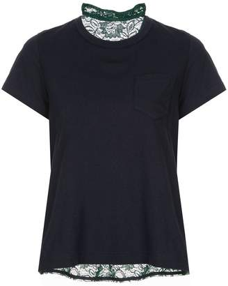 Sacai lace back T-shirt