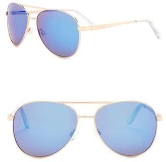Steve Madden 62mm Aviator Sunglasses