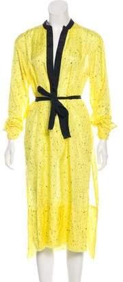 Proenza Schouler Printed Long Sleeve Midi Dress w/ Tags