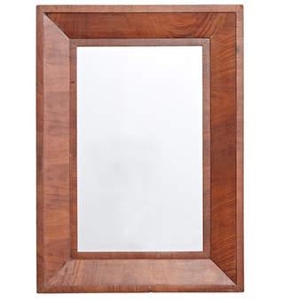 Rejuvenation Art Deco Mirror w/ Mahogany Veneered Frame