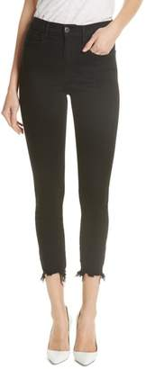 3x1 NYC W3 Destroyed Hem Ankle Skinny Jeans