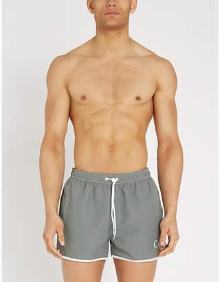 Calvin Klein Contrast-trim mesh-lined swim shorts