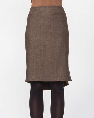 Le Château Herringbone Pencil Skirt