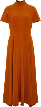 Emilia Wickstead Pleated Wool-Crepe Midi Dress