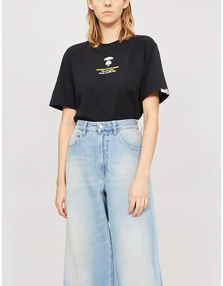 Aape Ape-print cotton-jersey T-shirt