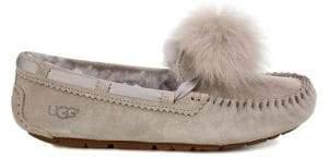 UGG Dakota Sheepskin Pom Pom Slippers