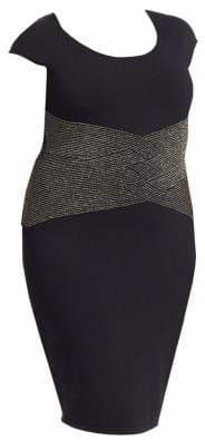 Marina Rinaldi Marina Rinaldi, Plus Size Elegante Gnanes Lurex Stretch Dress