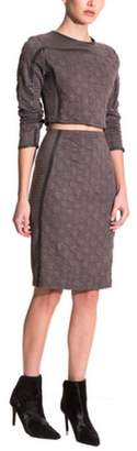 Gracia Grey Circle Skirt