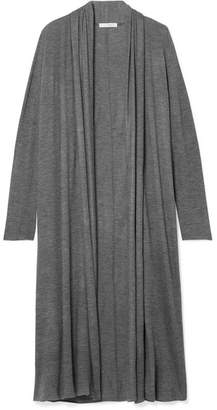 The Row Renate Stretch-cashmere Cardigan - Dark gray