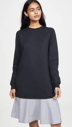 Kenzo Mix Woven Sweatshirt Dress