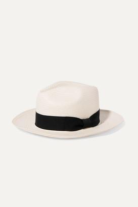 Sensi Studio Kids - Grosgrain-trimmed Toquilla Straw Panama Hat - White