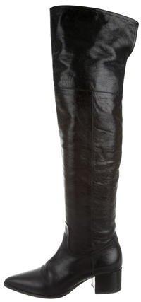 Miu MiuMiu Miu Pointed-Toe Over-The-Knee Boots