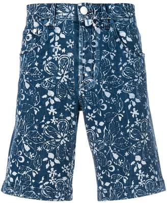 Jacob Cohen floral-print denim shorts