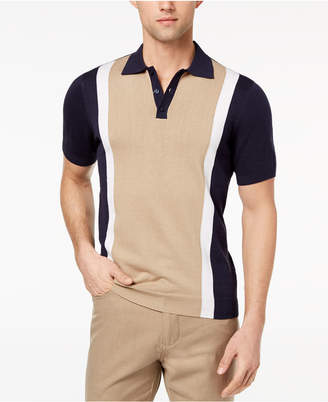 Ryan Seacrest Distinction Ryan Seacrest DistinctionTM Men's Slim Fit Colorblock Sweater Polo, Created for Macy's
