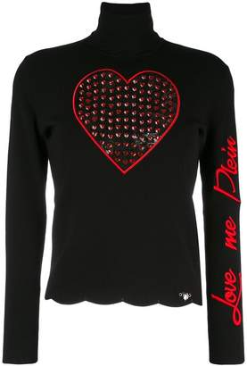 Philipp Plein 'Love Me' turtleneck sweater