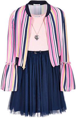 Beautees Big Girls 2-Pc. Bell-Sleeve Bomber Jacket & Dress Set