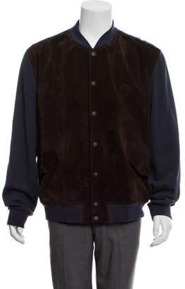 Gucci Suede Bomber Jacket brown Suede Bomber Jacket