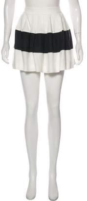 Rachel Zoe Striped Mini Skirt
