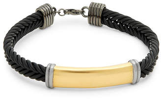 Effy Silver And Leather Braided Bracelet
