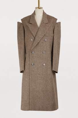 Maison Margiela Open shoulder wool coat