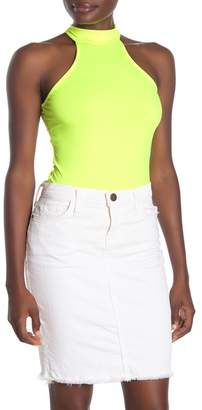 Blvd Neon Halter Sleeveless Bodysuit