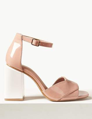 Marks and Spencer Wide Fit Statement Heel Patent Sandals