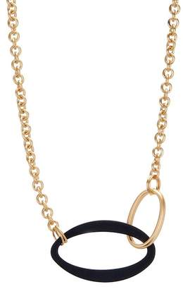 Spring Street Two-Tone Matte Link Collar Necklace