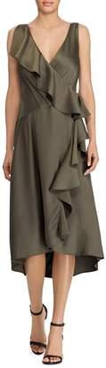 Ralph Lauren Ruffled Faux-Wrap Dress